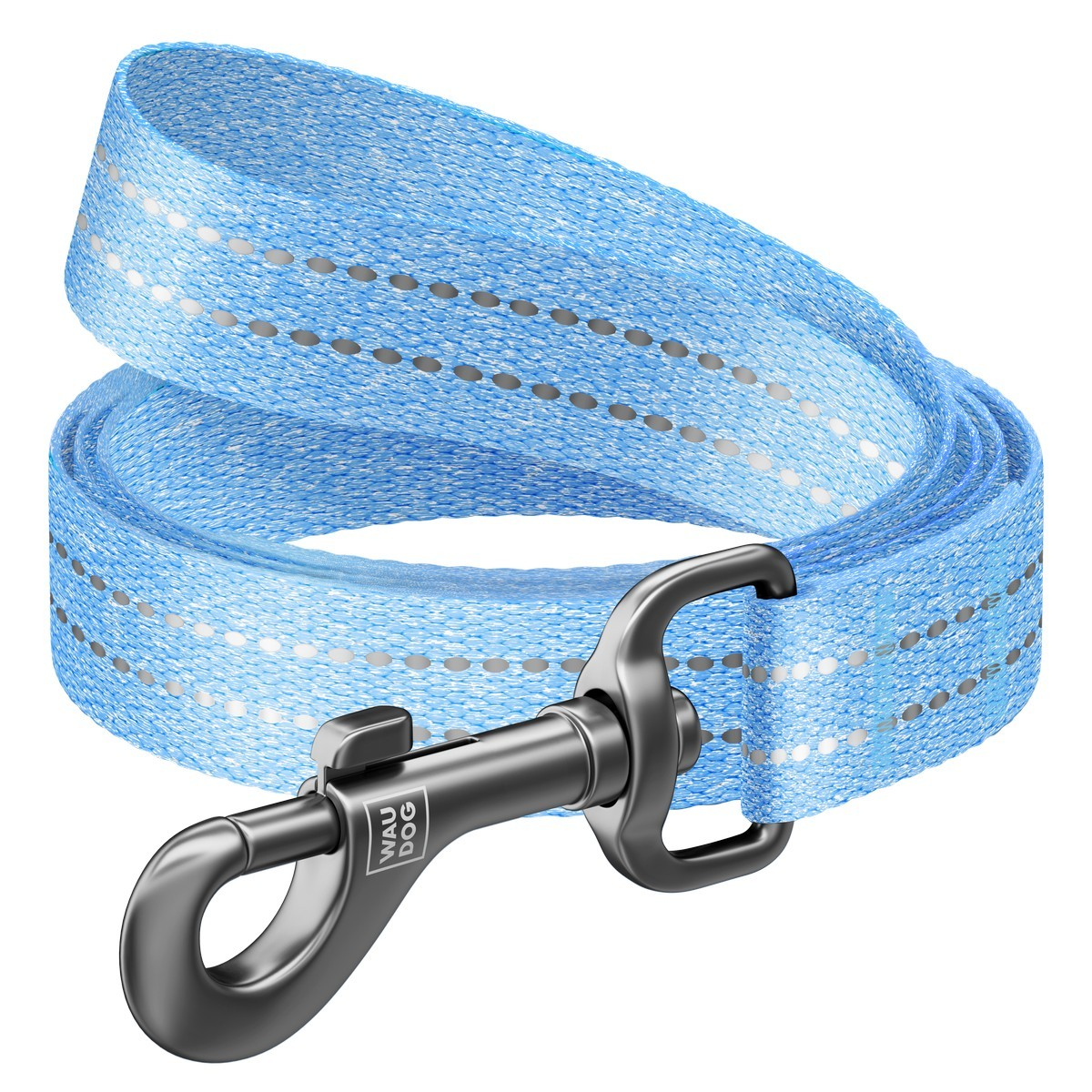 WAUDOG Re-cotton leash from recycled cotton, blue
